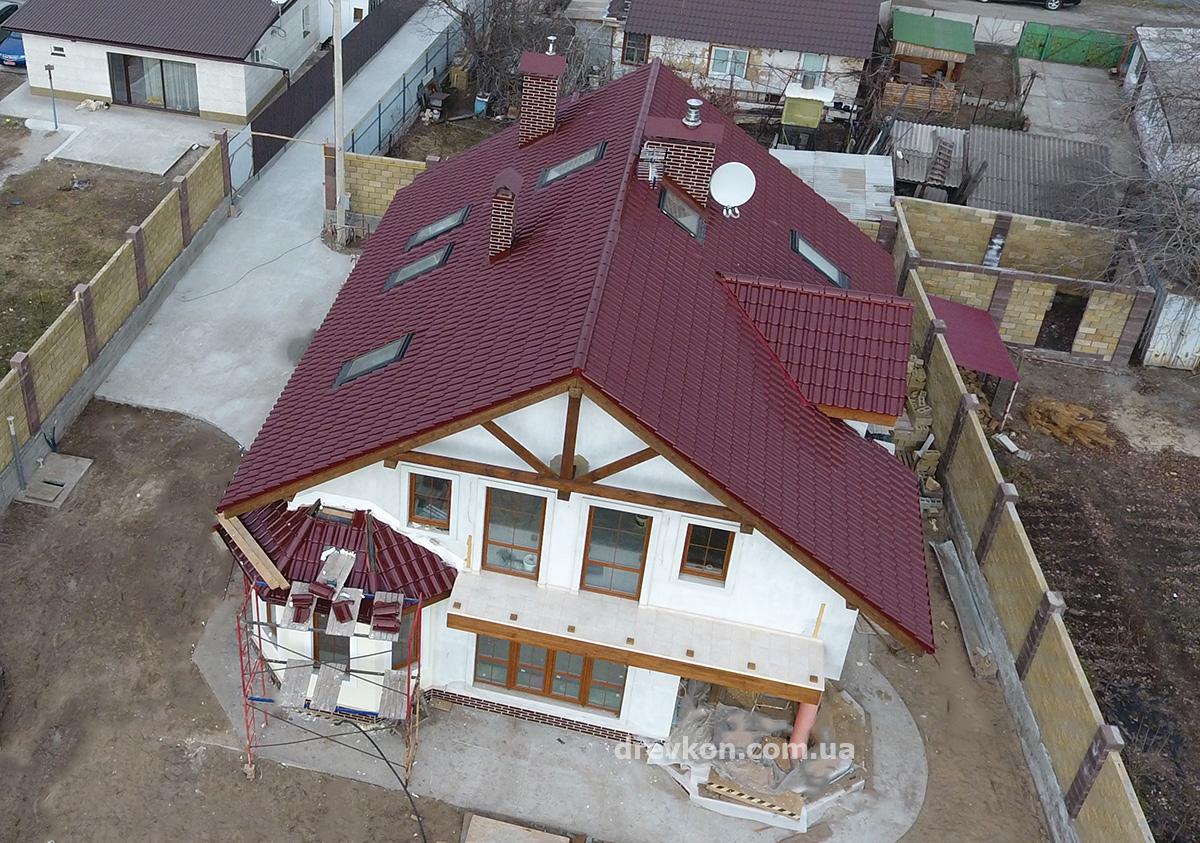 6 Mansarda pod keramikoy 1200 Строительство каркасных домов