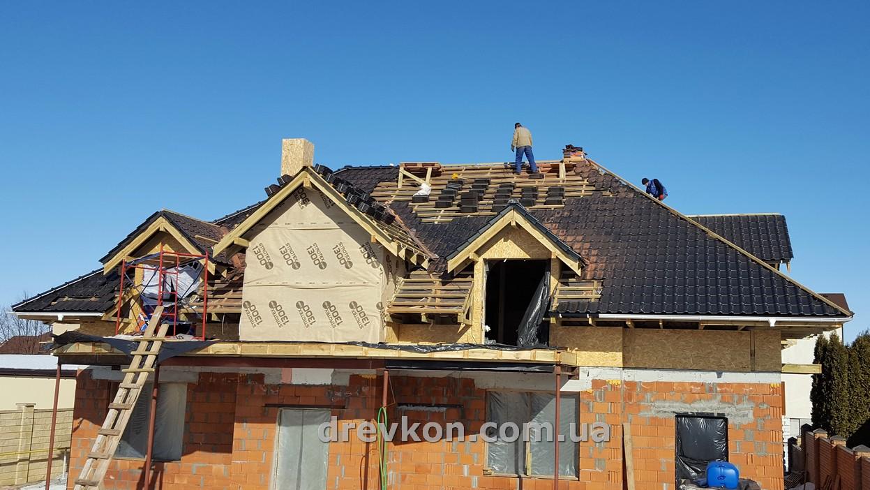 Металлочерепица своими руками вальмовая крыша 91